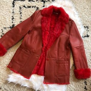 Burberry Leather and Fur Jacket
